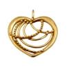 Bronze Pendant Open Heart 22mm